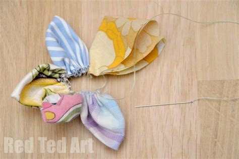 fabric craft ideas for upcycled fabric flower crafts ideas step 6 ted s