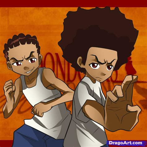 the boondocks how to draw the boondocks step by step anime characters
