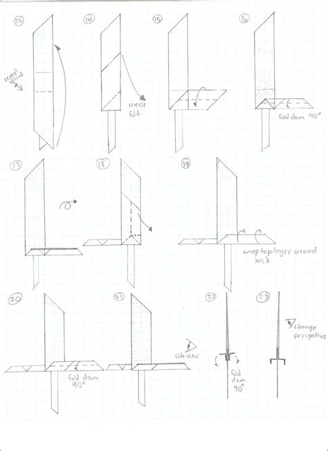 origami sword step by step buster sword 2 by cahoonas on deviantart