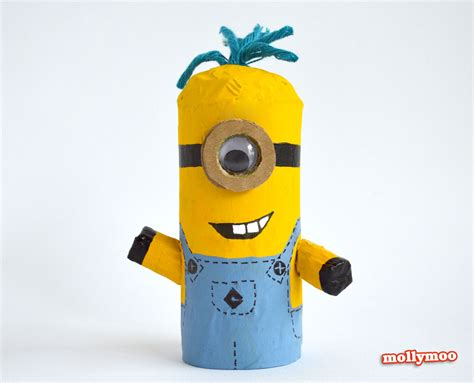 minion toilet paper roll craft mollymoocrafts toilet roll crafts for despicable me
