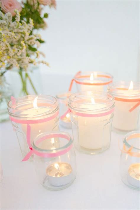 photophore diy petit pot de yaourt en verre deco mariage wedding candle