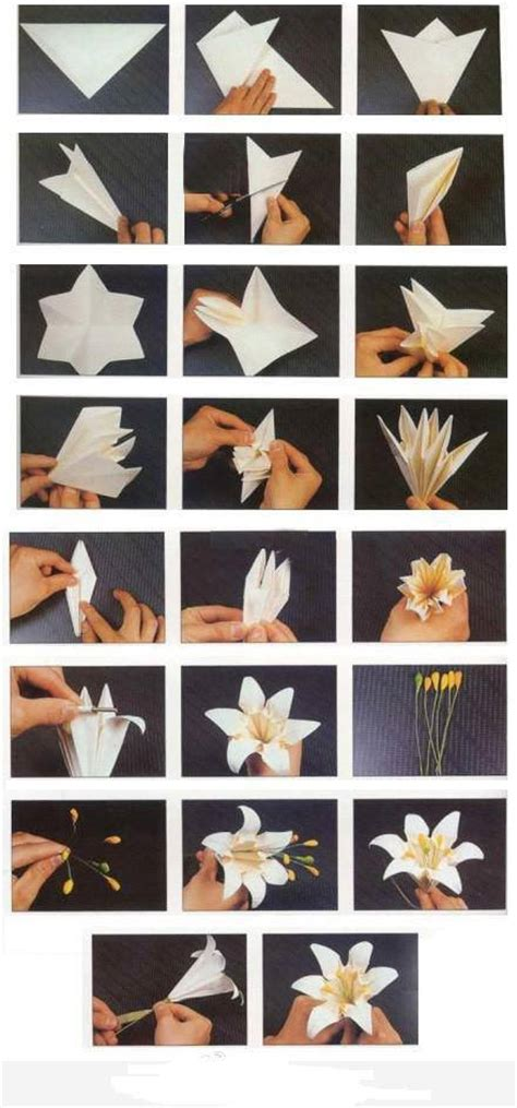 paper folding crafts step by step how to fold origami paper craft blooming flowers step