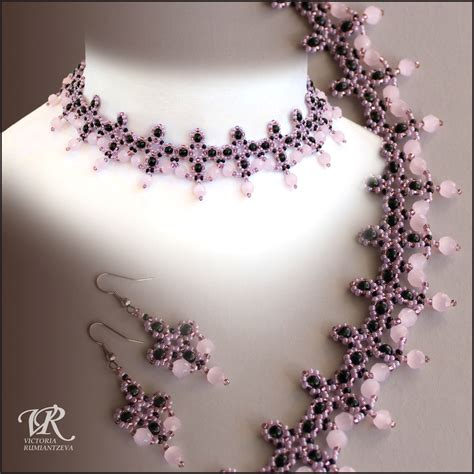 Free Pattern For Beaded Necklace Pink Flamingo Magic