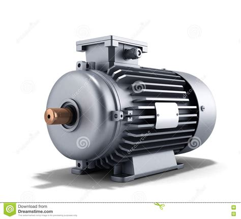 Electric Motor And Electric Generator by Electric Motor Generator 3d Illustration On A White
