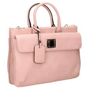 leather womens laptop bag pu leather womens business laptop bag handbag pink