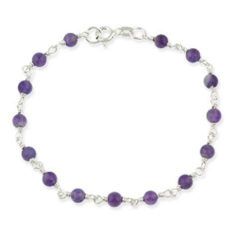 sterling silver bead bracelet sterling silver amethyst beaded bracelet bracelets