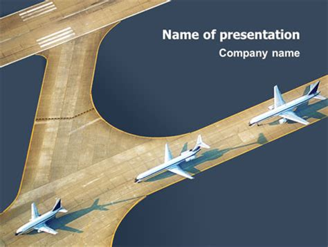 airport presentation template for powerpoint and keynote
