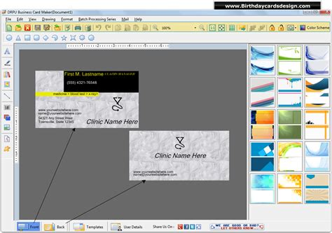 visiting card software business cards design software generates custom cards for
