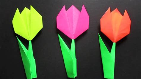 origami tulip step by step tulip flower easy origami tulip flower