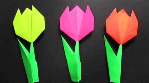 origami flowers tulip tulip flower easy origami tulip flower