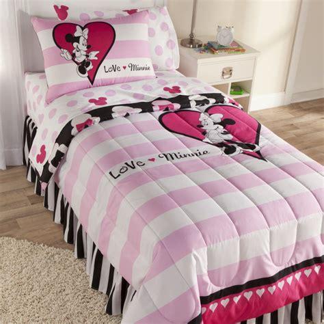 minnie comforter set disney minnie mouse sheet set home bed bath