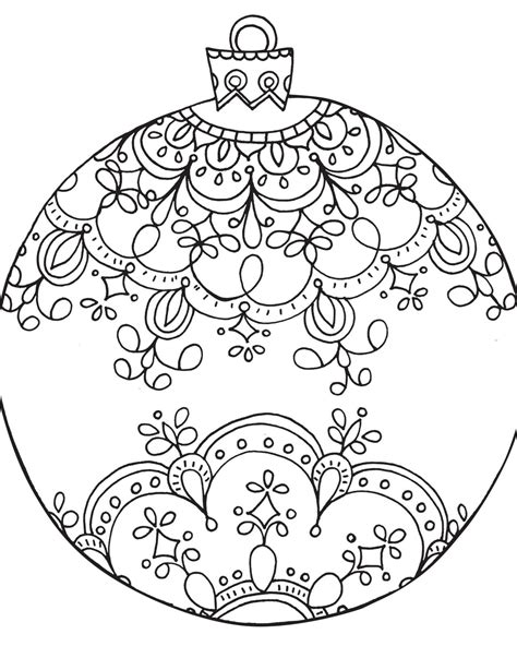 ornaments templates free coloring pages free printable ornament coloring