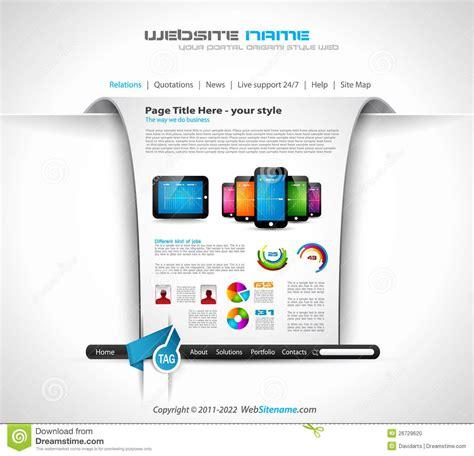 origami websites for origami website design for business stock photo