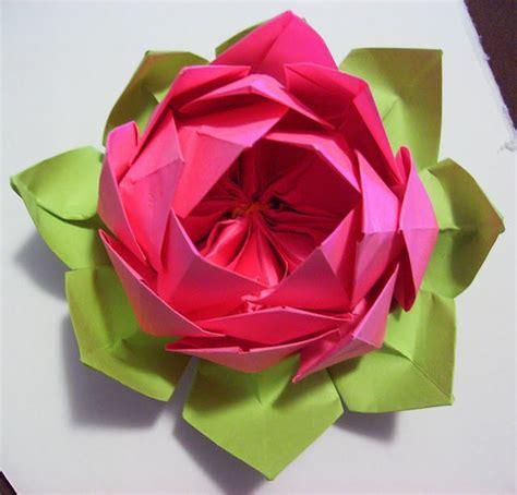 origami lotus flower tutorial origami lotus tutorial paper fabric flowers