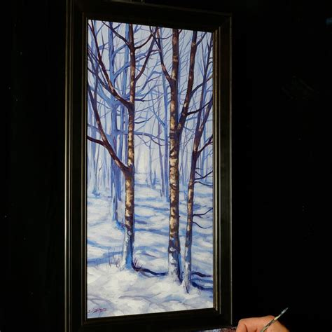 acrylic painting classes jacksonville fl trees of winter an acrylic painting lesson on dvd