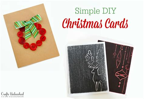 how to make simple cards diy card ideas simple crafts unleashed