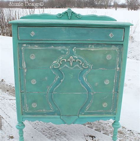 chalk paint turquoise shizzle design repurposed turquoise highboy dresser