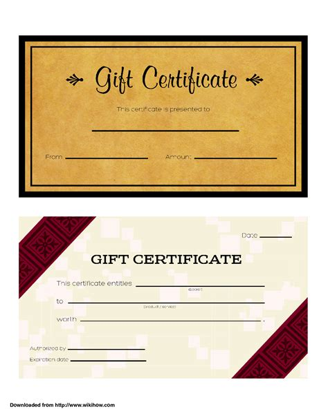 how to make gift cards for business doc 718325 gift certificate template word bizdoska