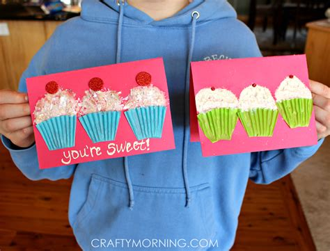 paper cupcake craft cupcake liner s day card idea crafty morning