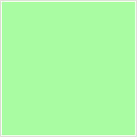 light green color aafca3 hex color rgb 170 252 163 green mint green