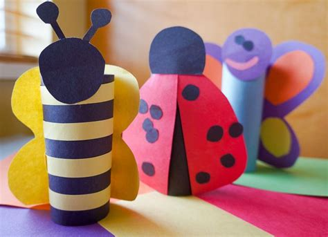 ladybug toilet paper roll craft toilet paper roll butterfly ladybug and bumblebee