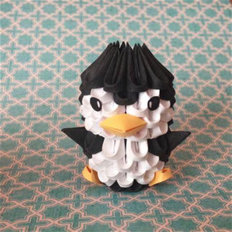 3d penguin origami 3d origami penguin from thearrings on etsy etsy