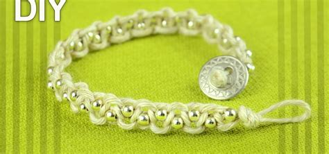 how to add a clasp to a beaded bracelet easy bracelet with and button clasp tutorial