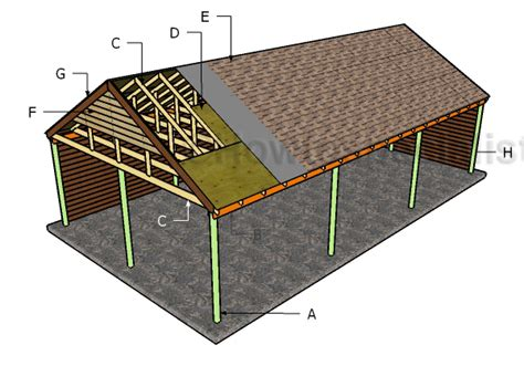 carport building plans carport plans howtospecialist how to build