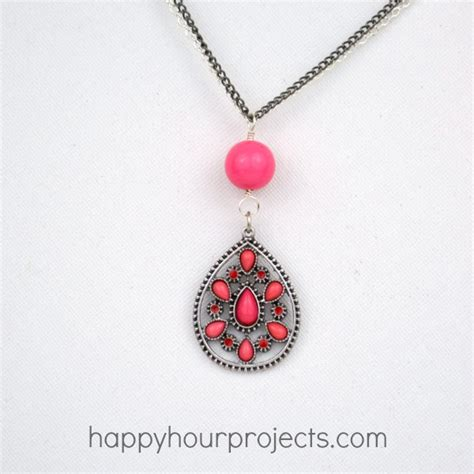 easy jewelry to make using jewelry connectors to make an easy necklace happy