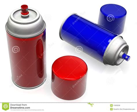 spray paint time spray paint cans stock illustration image of spray
