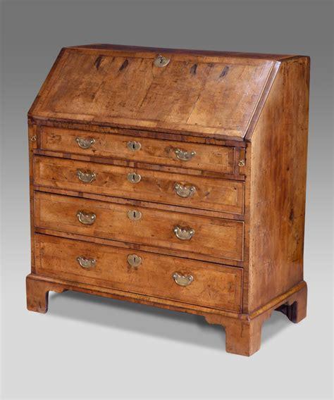 Dresser Bureau by Antique Walnut Bureau Georgian Bureau Walnut Desk