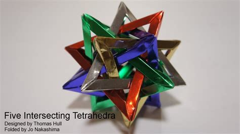 tetrahedra origami five intersecting tetrahedra hull