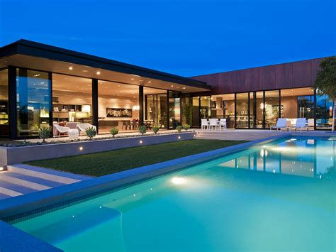 la house world of architecture sunset luxury modern house