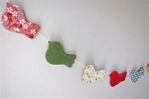 ideas for paper craft patterned paper bird paper cut garland diy paper craft