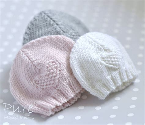 premature baby hats knitting patterns easy knit preemie and baby hat knitting pattern from
