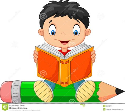 picture books to read boy reading a book stock vector image