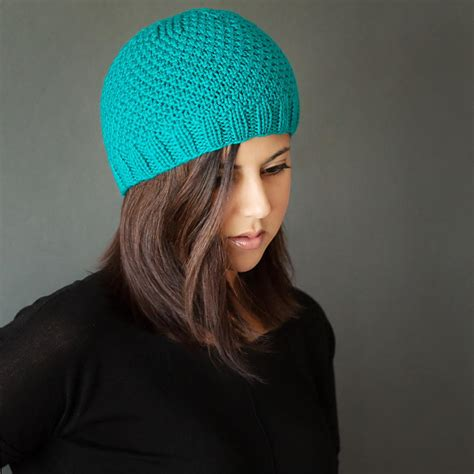 easy knit beanie chic knit beanie pattern allfreeknitting