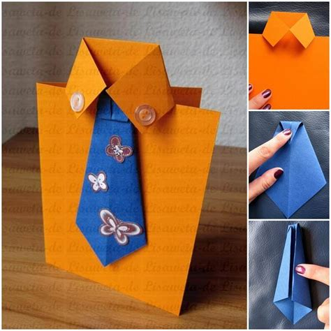 make s day card diy tie and shirt greeting card