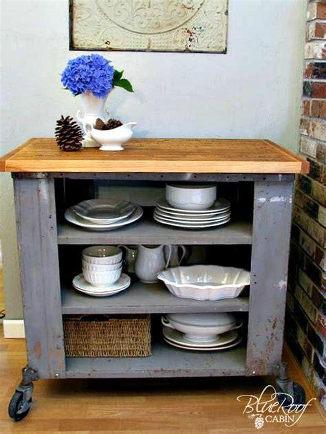 kitchen island or cart blue roof cabin diy industrial kitchen island or cart or