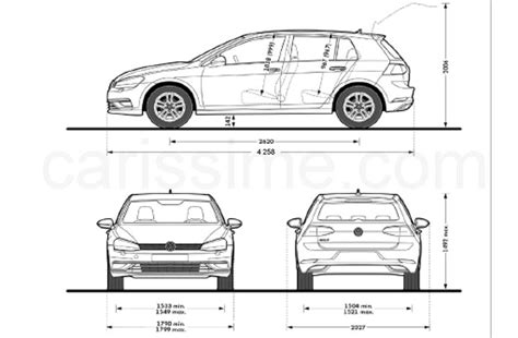 Volkswagen Golf Dimensions by Dimensions Of Vw Golf
