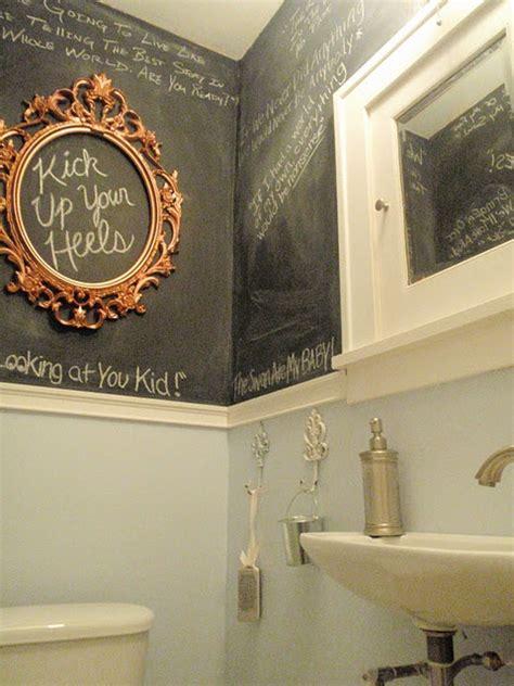 chalkboard paint ideas bathroom 21 unconventional chalkboard bathroom d 233 cor ideas digsdigs