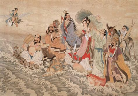 china painting show temple of the eight immortals xi an ba xian an