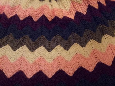 knitted ripple baby blanket mosier farms knitted chevron ripple afghan