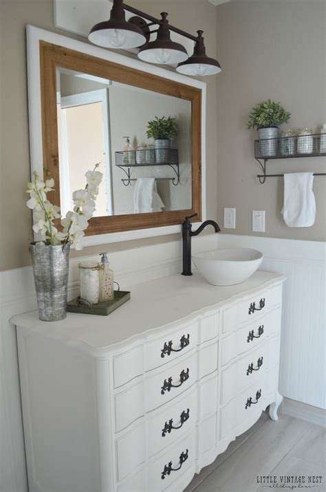 farmhouse bathroom vanities farmhouse master bathroom reveal vintage nest