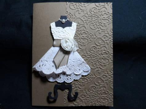 how to make a card dress doily dress card