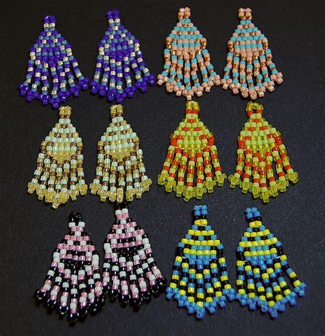free seed bead earring patterns seed bead earring set flickr photo