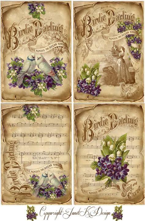 decoupage printables vintage sheets purple and vintage sheet on
