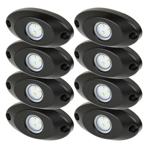 led lights waterproof waterproof road led rock light kit 8 led rock lights