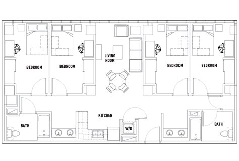 4 bed 2 bath floor plans floor plans the summit at city student