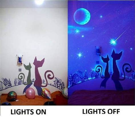 glow in the paint how to make how to diy glow in the paint wall murals